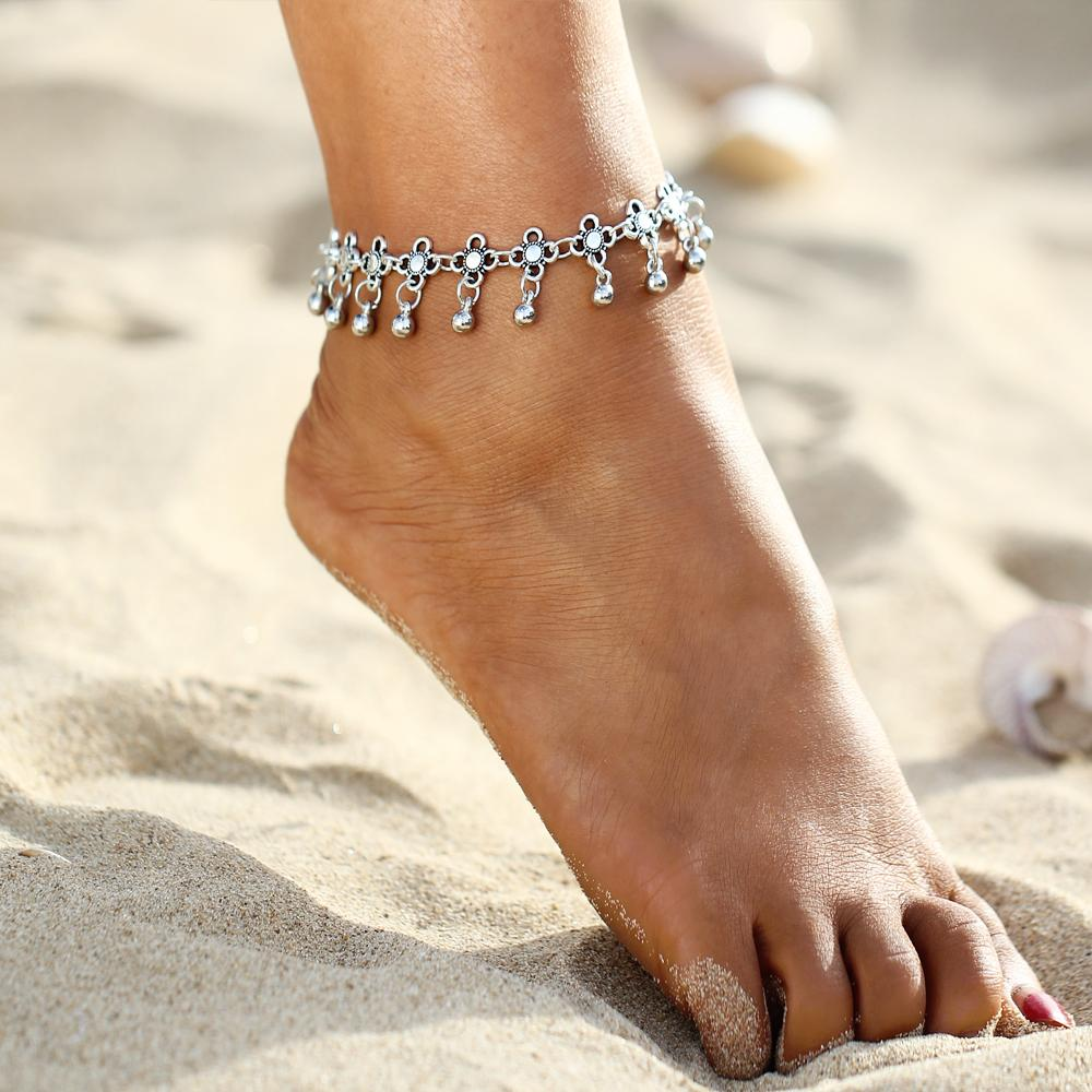 Bohemia Alloy Chain  Anklet Flower Pendant  Foot Jewelry For Women