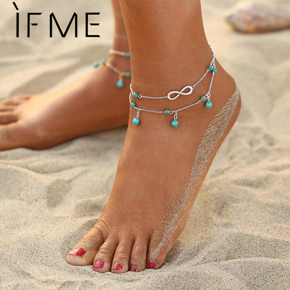 Bohemian Infinity Anklet Women Foot Chain Jewelry