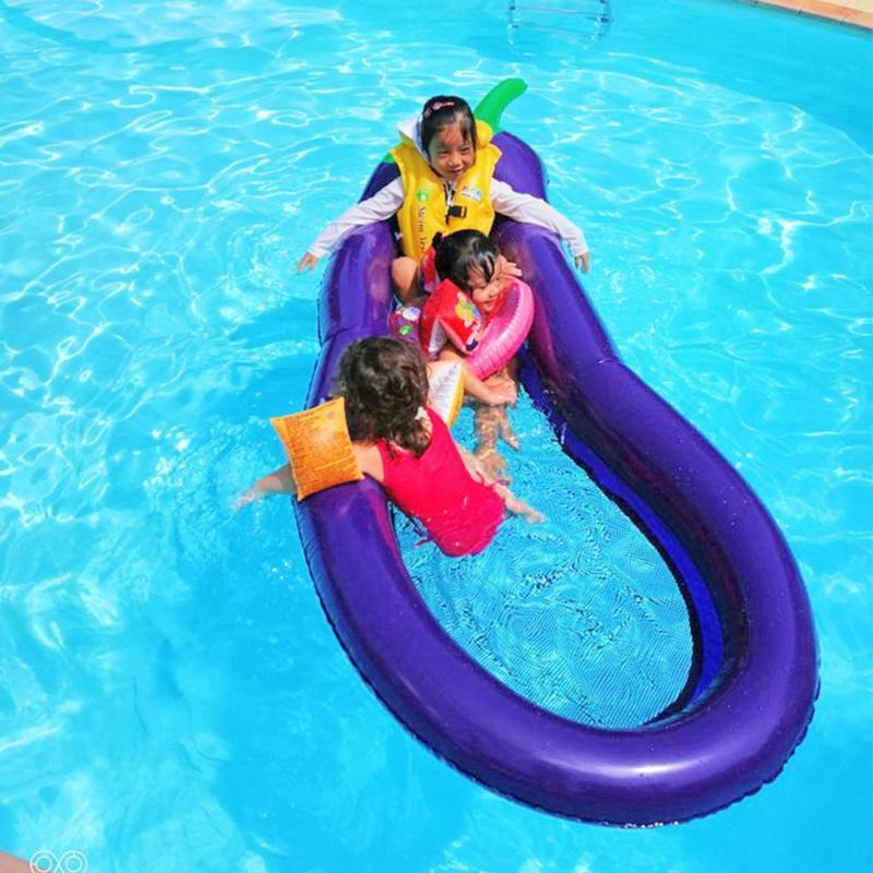 Inflatable Pool Floats Eggplant Swimming Ring