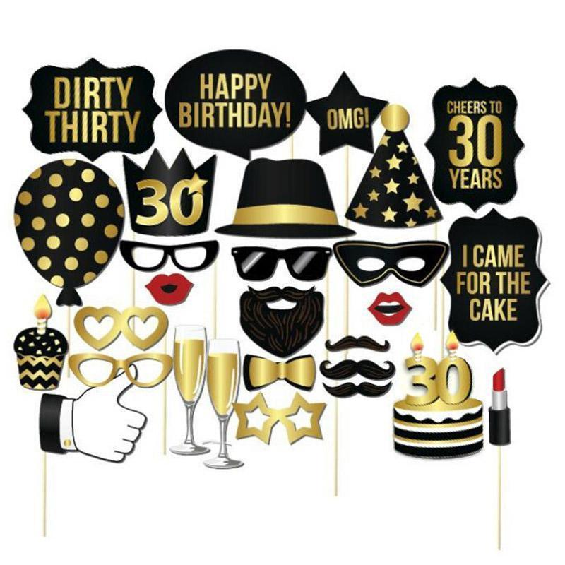 1pcs 30th Birthday Photo Props  Party Supplies