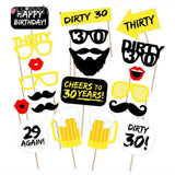 30th Birthday Photo Props  Party Supplies