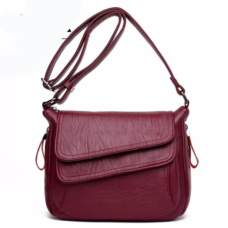 Black Women Leather Handbags Summer Style Women Bag