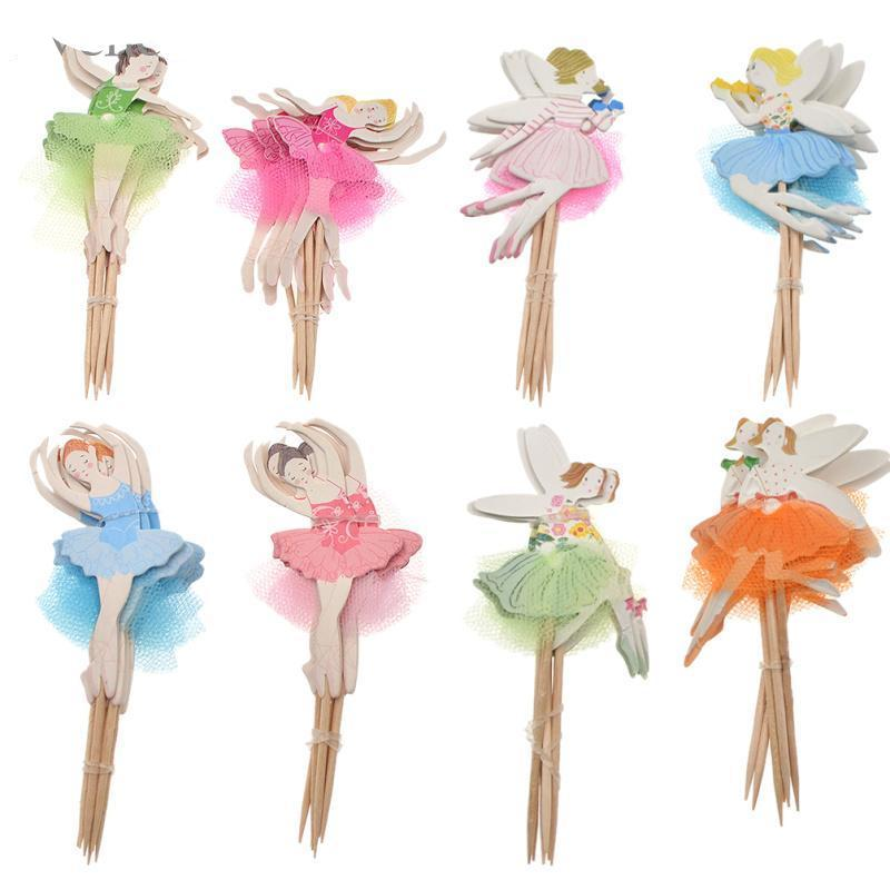 Cupcake Topper  Ballerina Fairy Picks