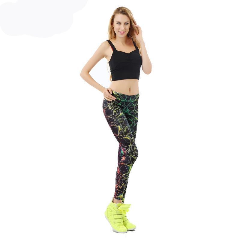 3D Printed leggings fluorescent  pant tights