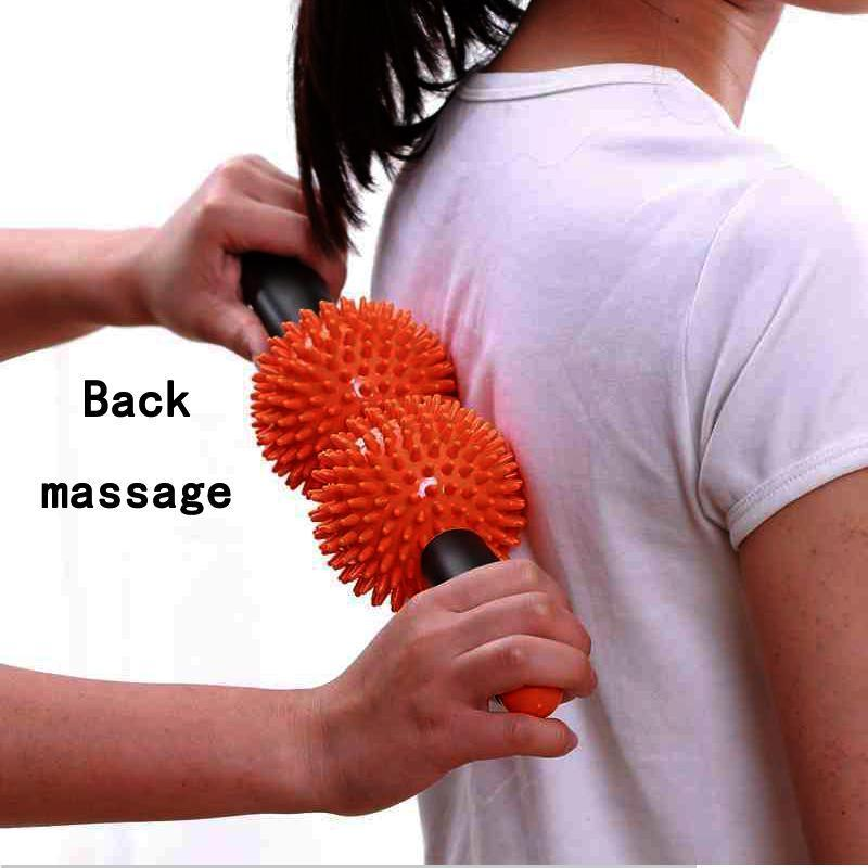 Massage & Relaxation red Neck Massager Back body Roller Fitness roll Stick