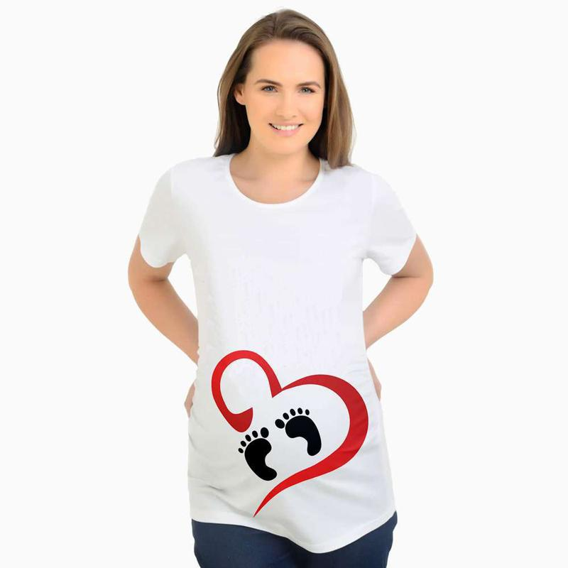 Tees Maternity Funny Pregnancy T shirts Same as the picture / S