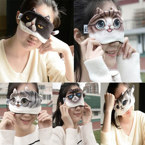 Cat  Sleep Eye Mask Eye Cover
