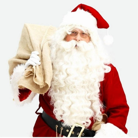 Christmas Santa Claus Wig + Beard Set Costume Adult