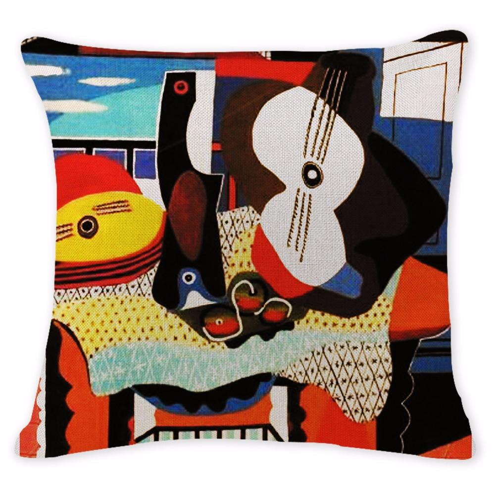 Abstract Art Pillow Cases Oil Printed Picasso Pillow Cover