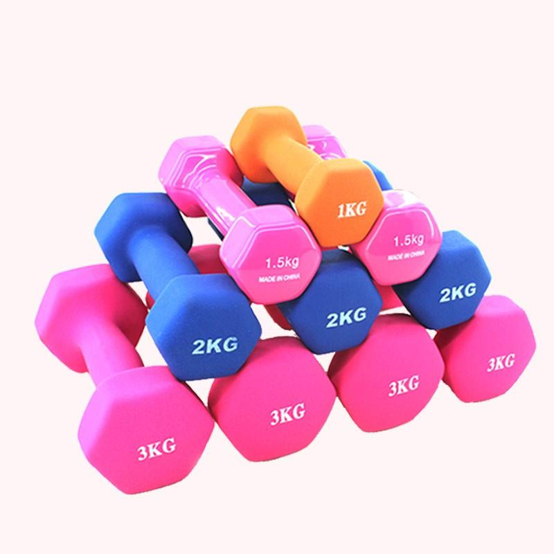 Dumbbells Purple Fitness & Body Building Dumb bell 4lbs