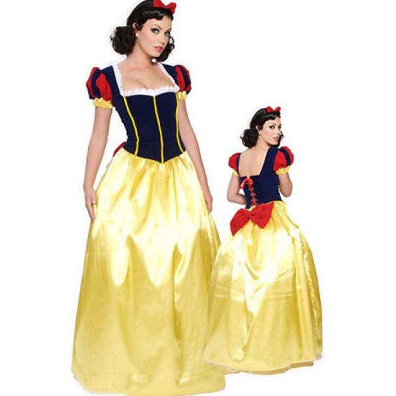 Adult Snow White Costume Carnival  Purim Halloween Dress