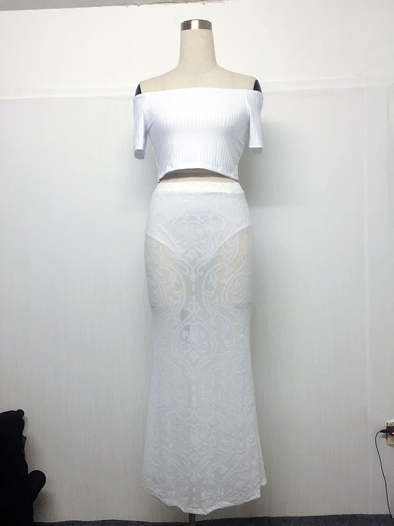 Dresses White / M Fancy Style Summer Lace dress