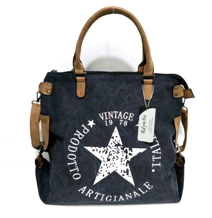 Travel Shoulder Messenger Tote Black