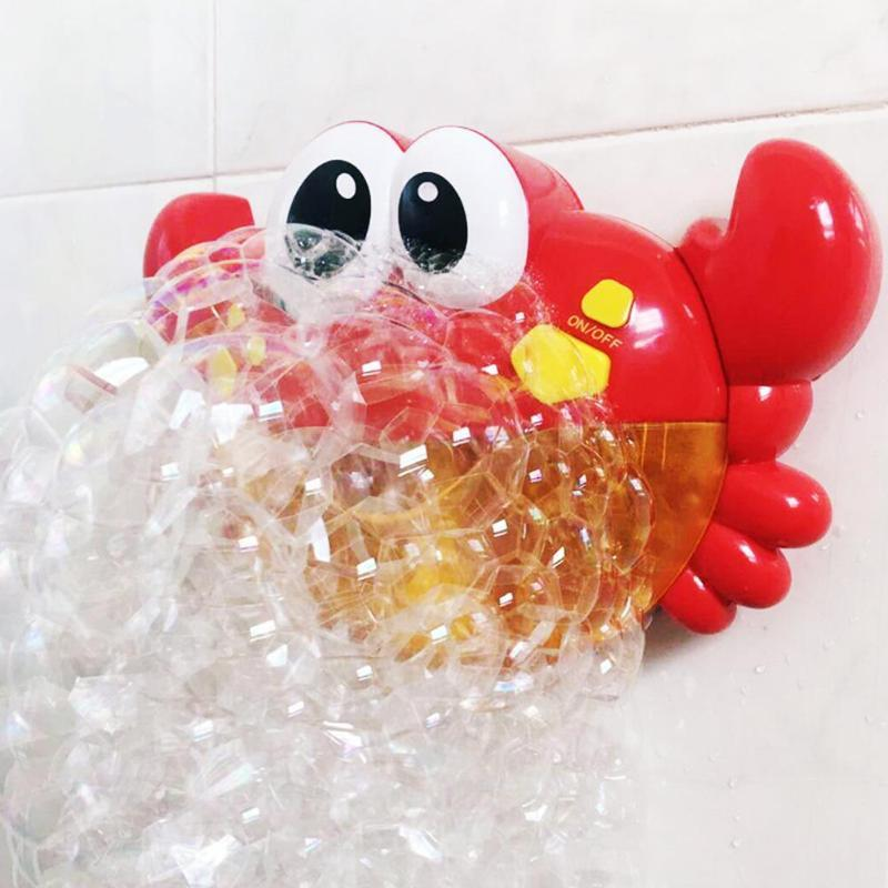 Red Plastic Crab Bubble Machine Bubble Maker  for Bath Tubs