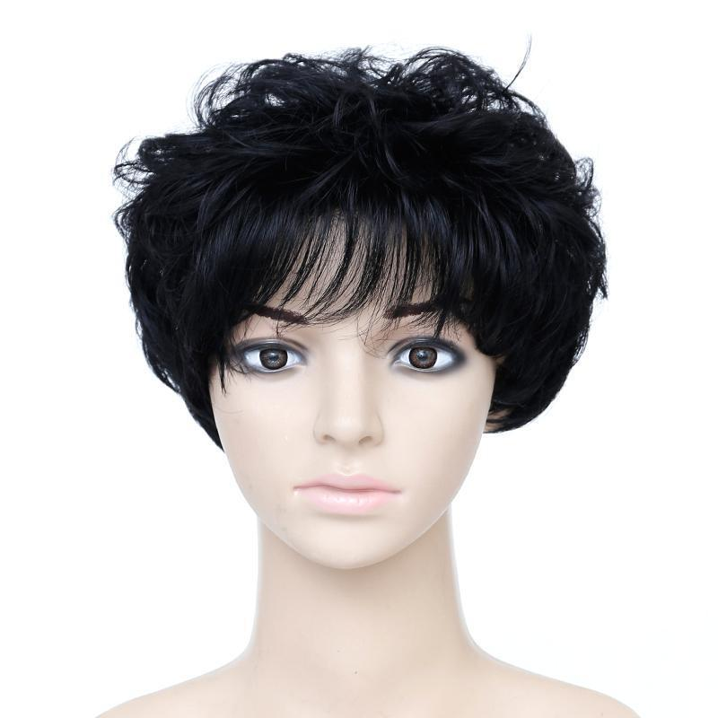 Short Curly Pixie Wig Synthetic Hair with