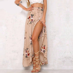 Boho High Waist Asymmetrical skirt