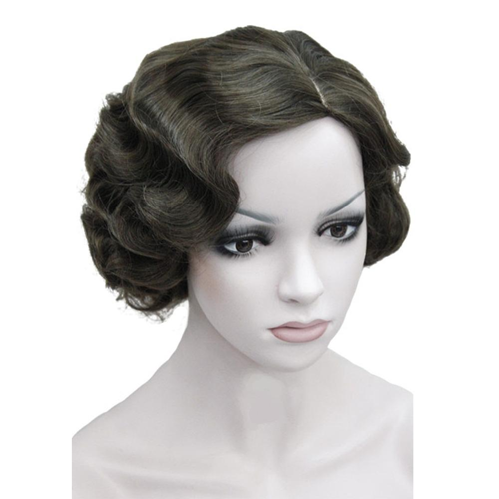 Retro Synthetic Wig  Flapper Hairstyles  Finger Wave Wigs #2