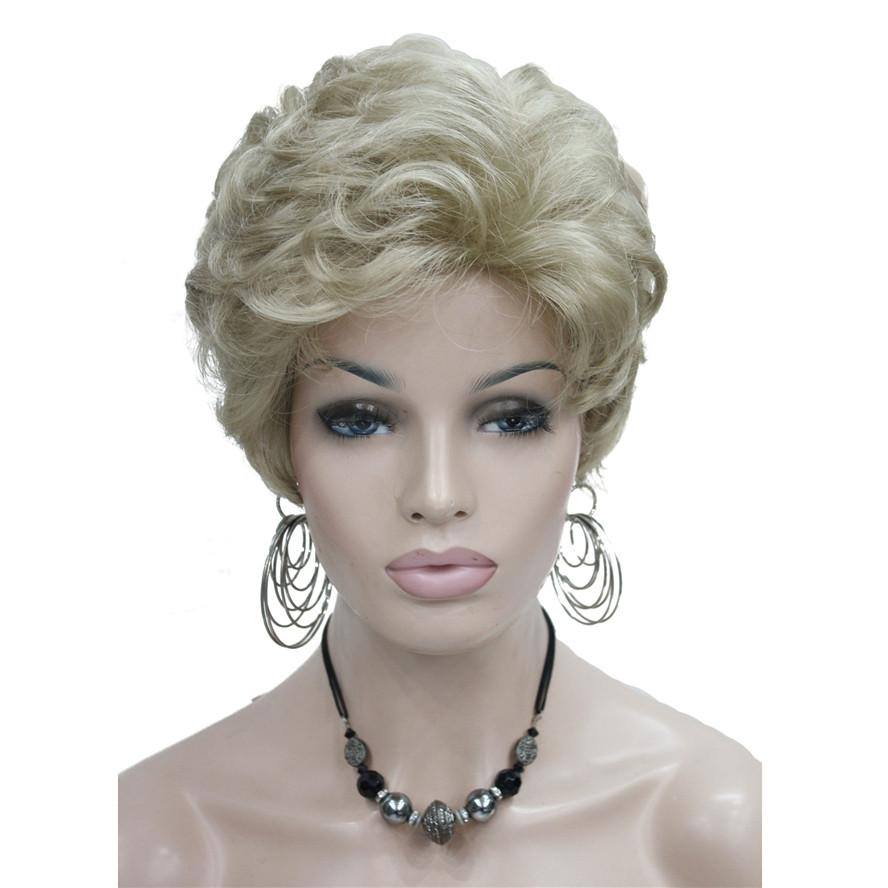 Synthetic None-Lace Wigs #613 Fluffy Curly Short Synthetic Hair Wig