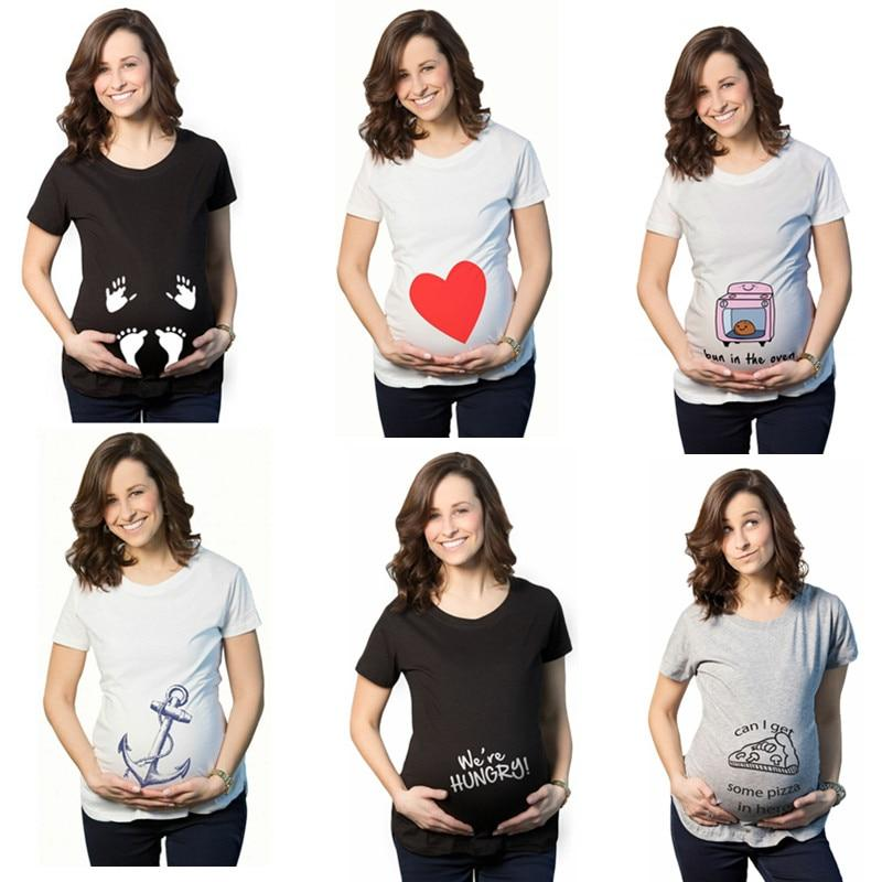 Tees Maternity T Shirts Short Sleeve Casual Pregnancy Clothes 1 / S