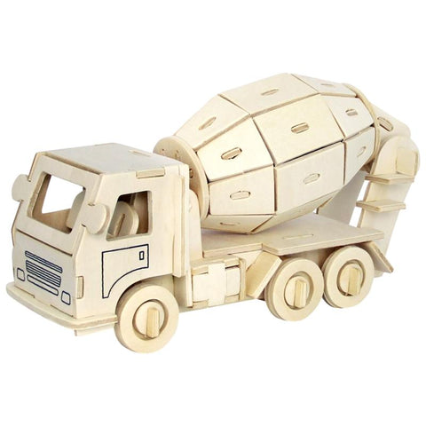 3D Puzzle  Wooden Puzzle Engineering Truck