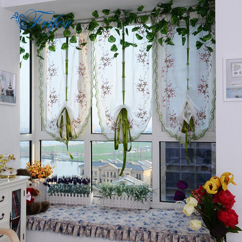 Curtains Embroidered Butterfly Curtains For Kitchen Living Room