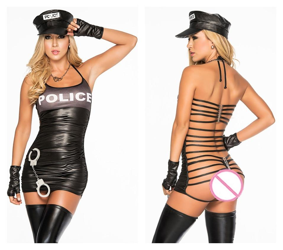 Sexy Police Costume Adult  Cosplay Erotic Lingerie