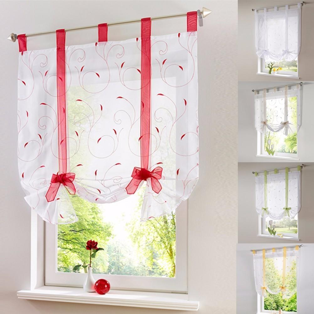 Blinds, Shades & Shutters Vertical Blind Tulle Curtains  Floral Sheer Panel Polyester White / A 60X140CM