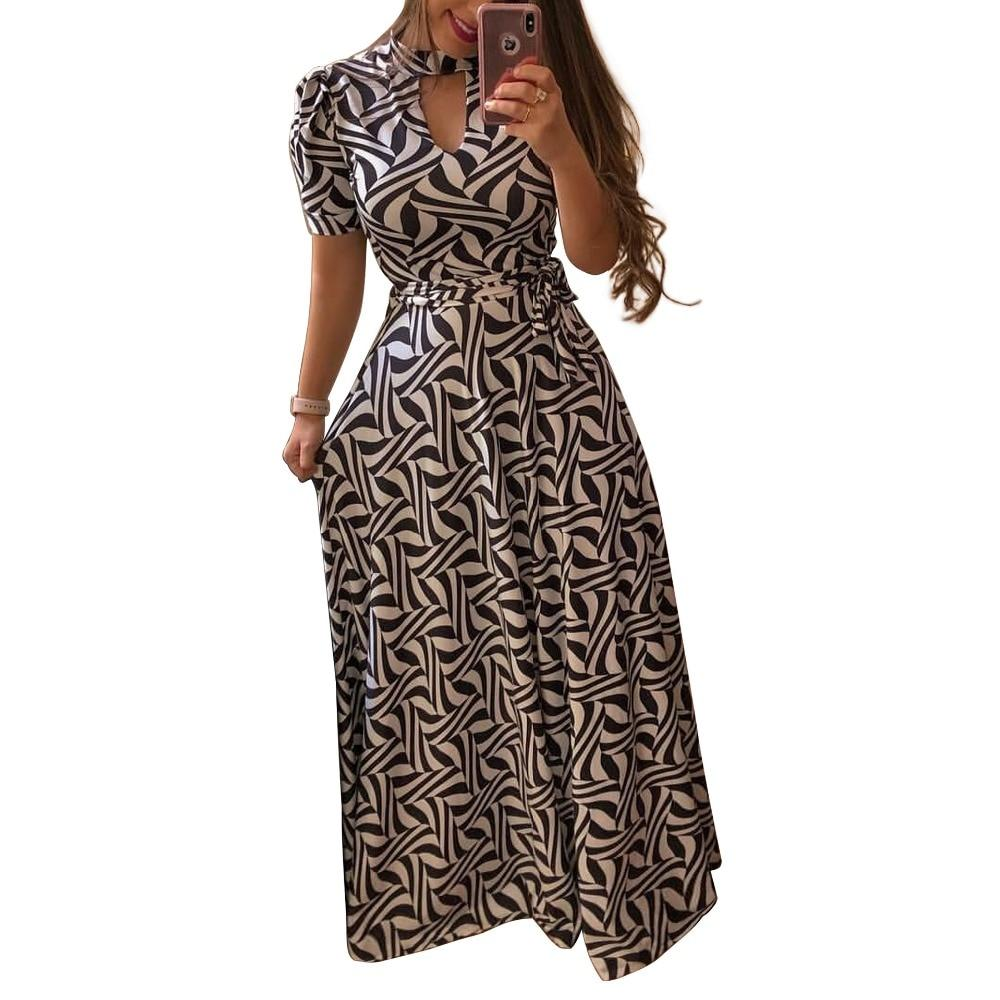 Beautiful Floral Prints on Retro Style Maxi Dress 1 / S