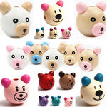 Bear Beads 5pcs Wooden Beads DIY For Kids Craft
