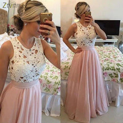 Beading Lace Chiffon Patchwork Elegant Party Dresses
