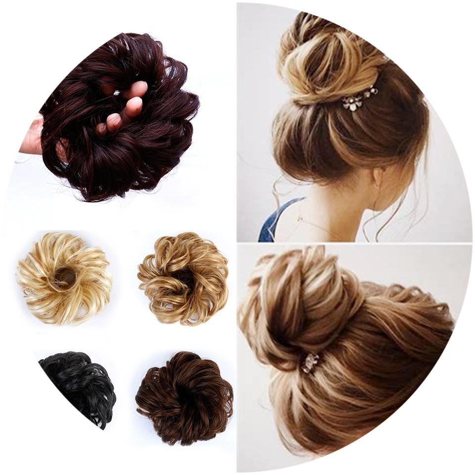 30 Hair Clip In Chignon Hair Extensions Bun for Brides  Bridesmaids