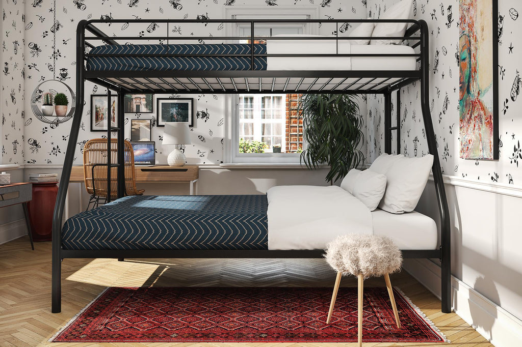 Twin Over Full Metal Bunk Bed Frame by DHP
