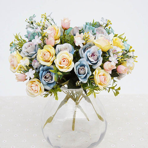 Flower Bouquet Small bud Silk Roses