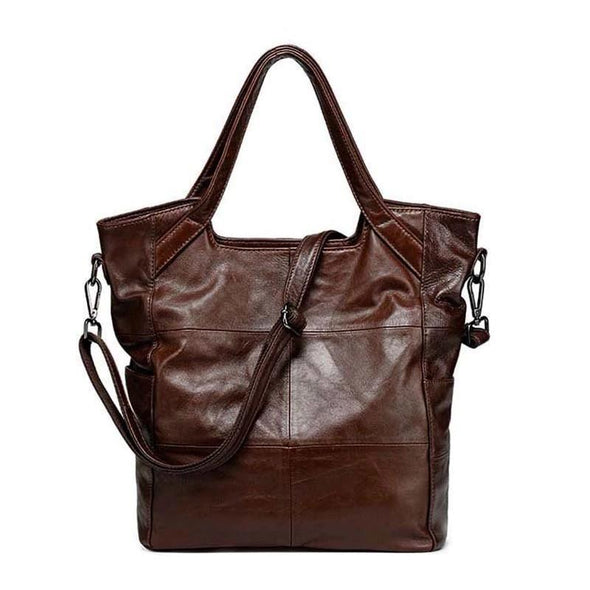 Classic Fashion Ladies Leather Handbag Brown