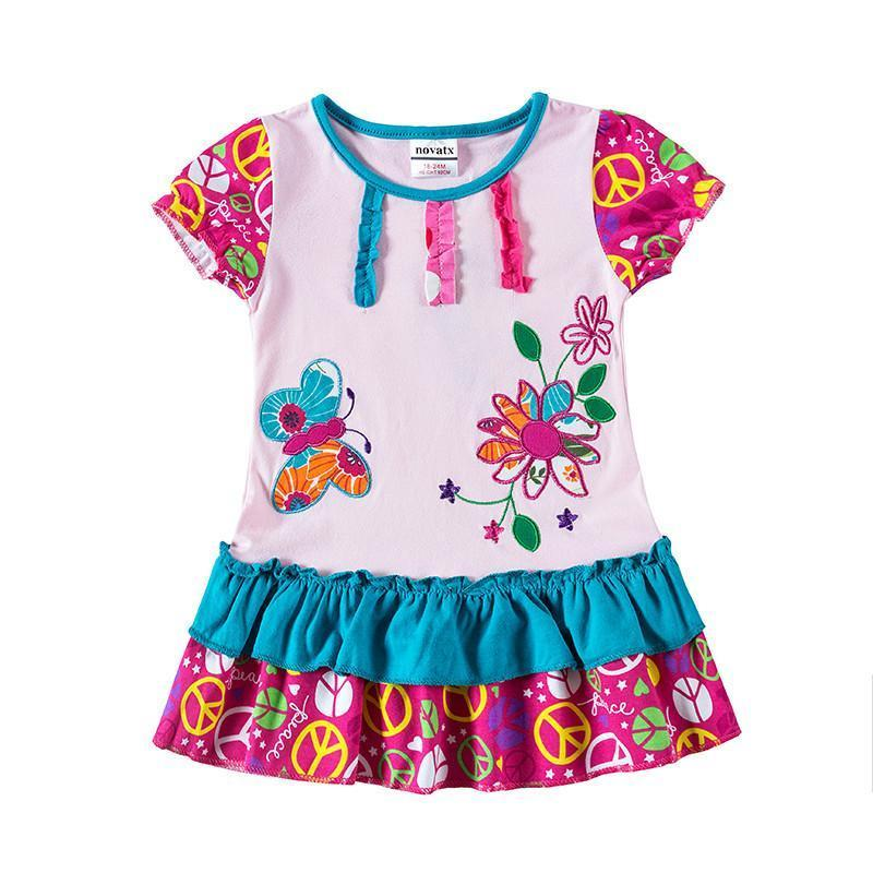 2T Summer Baby Girl Clothes Short Sleeve