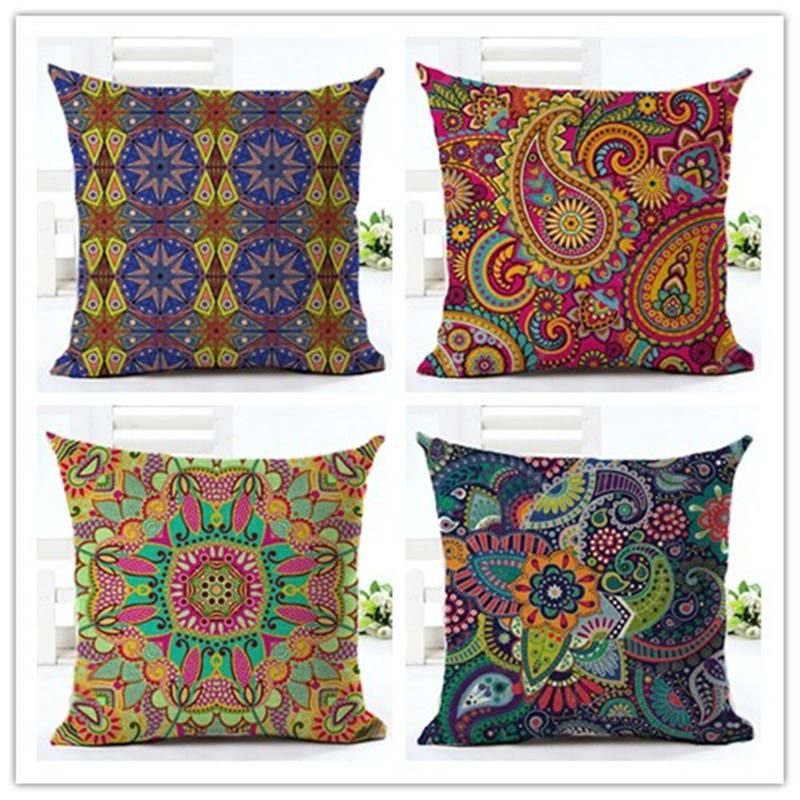 Bohemian Style paisley Printed Cushion Home Decor