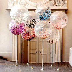 Giant clear balloon Birthday Party Decoration  36 inch  decor  Multi-color Confetti Balloon Wedding