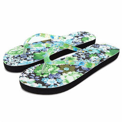 Flip Flop Slippers Beach Shoes  Printed Flower Sandals