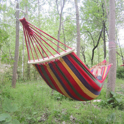 Hammock  Portable Outdoor Garden Hang Bed Rest Swing Canvas