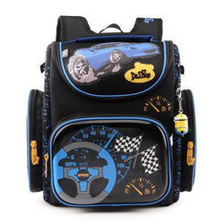 Boys School Bags Dark Blue Cars Aircraft Children's Orthopedic Backpack Fashion New Mochila Infantil Bolsas