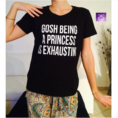 T Shirts Women Cotton   print Tees Funny quote