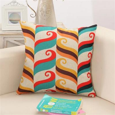 11 / 43x43cm Creative Geometric Polyester Square Home Decor Cushion Cover