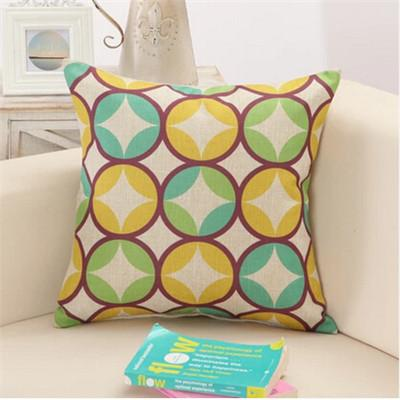 13 / 43x43cm Creative Geometric Polyester Square Home Decor Cushion Cover