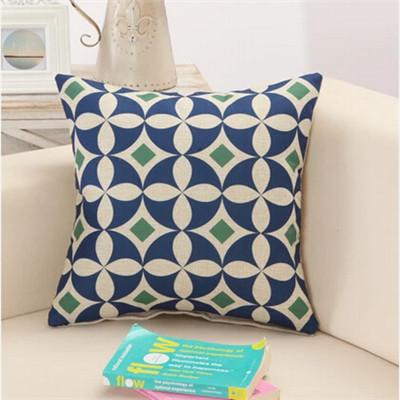 Creative Geometric Polyester Square Home Decor Cushion Cover