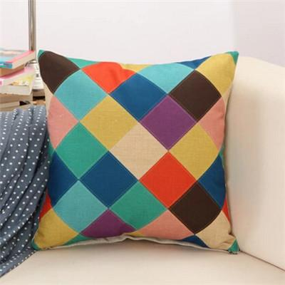 8 / 43x43cm Creative Geometric Polyester Square Home Decor Cushion Cover