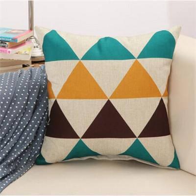 9 / 43x43cm Creative Geometric Polyester Square Home Decor Cushion Cover