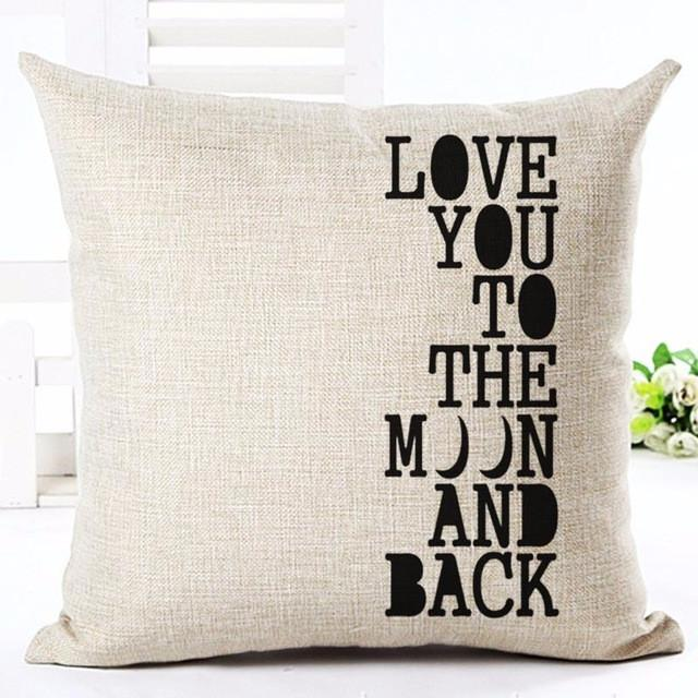 3 / without pillow inner Printed Cotton Linen Pillowcase Decorative Pillows Cushion Use For Home