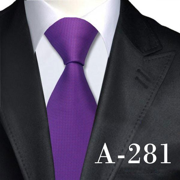 A281 / United States Solid Ties Neck Ties 8.5cm Silk Ties for Men Dress Suit