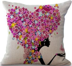 American Cartoon Fashion Girl Pillow For Sofa / Car Cushion Home Decorate Pillows Cushions