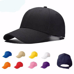 Adjustable Snapback Sports Fitted Dome Solid Colors Unisex